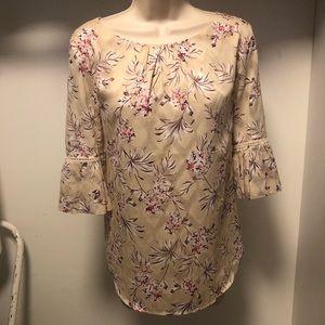 Ann Taylor floral top blouse